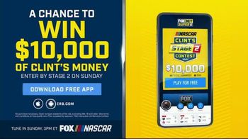 FOX Bet Super 6 TV Spot, 'NASCAR: Win $10,000 of Clint's Money'