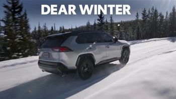 Toyota Presidents Day TV Spot, 'Dear Winter: Bundle Up' [T2] - 1 commercial airings