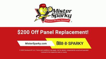 Mister Sparky TV Spot, 'Relieved of Duty: $200 Off Panel Replacement' - Thumbnail 10