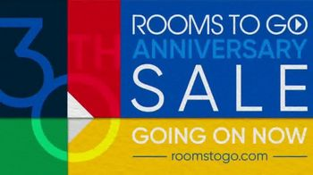 Rooms to Go 30th Anniversary Sale TV Spot, 'Reclining Leather Living Room' Song by Junior Senior - Thumbnail 10