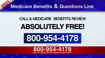 Medicare Benefits & Questions Line TV Spot, '2021 Medicare Benefits Review' - Thumbnail 8