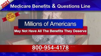 Medicare Benefits & Questions Line TV Spot, '2021 Medicare Benefits Review' - Thumbnail 1