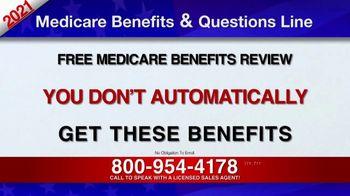 Medicare Benefits & Questions Line TV Spot, '2021 Medicare Benefits Review' - Thumbnail 7