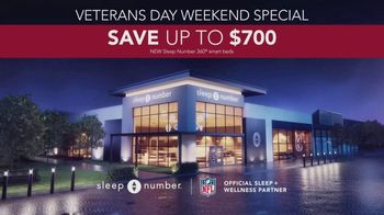 Sleep Number Veterans Day Sale TV Spot, 'Weekend Special: Save Up to $700: Ends Soon' - Thumbnail 9