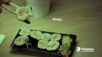 Polston Tax TV Spot, 'Risky: Gas Station Sushi or Ignoring the IRS'