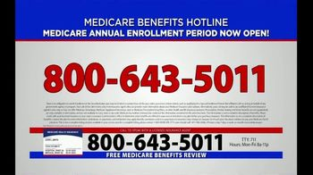 Medicare Benefits Helpline TV Spot, 'Annual Enrollment Period: Now Open' - Thumbnail 9