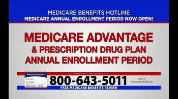Medicare Benefits Helpline TV Spot, 'Annual Enrollment Period: Now Open' - Thumbnail 1