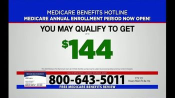 Medicare Benefits Hotline TV Spot, 'Annual Enrollment Period: Now Open'