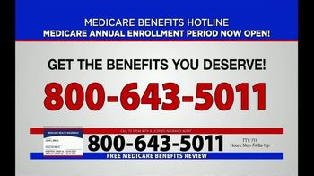 Medicare Benefits Helpline TV Spot, 'Annual Enrollment Period: Now Open' - Thumbnail 5