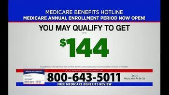 Medicare Benefits Helpline TV Spot, 'Annual Enrollment Period: Now Open' - Thumbnail 8