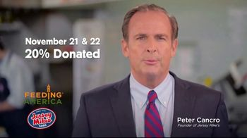 Jersey Mike's TV Spot, 'Raising Funds for People in Need: 20% of Sales Donated' - Thumbnail 7