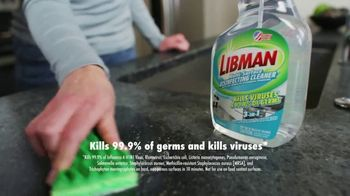Libman Multi-Surface Disinfecting Cleaner TV Spot, 'When Germs Are All You See' - Thumbnail 4