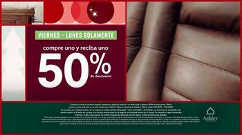 Ashley HomeStore Black Friday TV Spot, 'Compre uno y reciba uno 50% de descuento' [Spanish] - Thumbnail 3