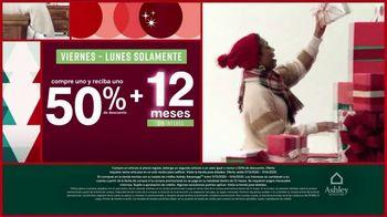 Ashley HomeStore Black Friday TV Spot, 'Compre uno y reciba uno 50% de descuento' [Spanish] - Thumbnail 5