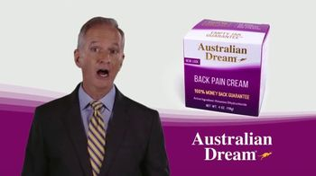 Australian Dream Back Pain Cream TV Spot, 'Getting Through the Day'