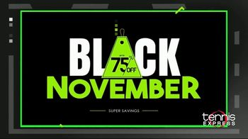 Tennis Express Black November TV Spot, 'Shoes, Apparel and Free Stringing'