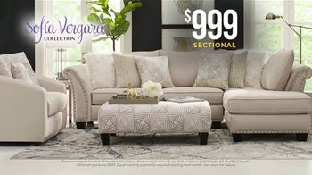 Rooms to Go Holiday Sale TV Spot, \'$999 Sofia Vergara Collection Sectional\'