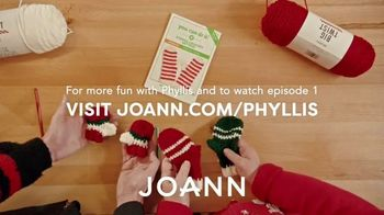 Jo-Ann TV Spot, 'Crochet Kitten Mittens with Phyllis and Vincent' Featuring Phyllis Smith - Thumbnail 8