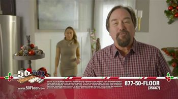 50 Floor 60% Off Sale TV Spot, 'Holidays: Save $100 and Installation' Featuring Richard Karn