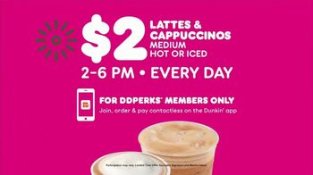 Dunkin' DD Perks TV Spot, 'Holidays: $2 Lattes & Cappuccinos' - Thumbnail 6