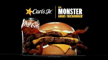 Carl's Jr. Monster Angus Thickburger TV Spot, 'Good Luck Getting It Off Your Mind' - Thumbnail 1