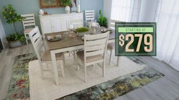 Ashley HomeStore Lowest Prices of the Season TV Spot, 'Dining Room and Living Room: 0% Interest' - Thumbnail 4