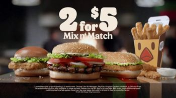 Burger King 2 for $5 Mix n' Match TV Spot, 'Drive Thru: $1 Delivery, $10 Minimum' Feat. Daym Drops - Thumbnail 9