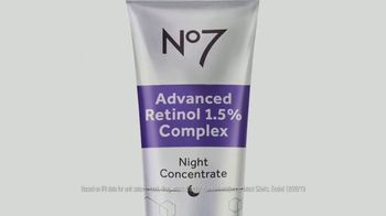 No7 Laboratories Advanced Retinol Night Concentrate TV Spot, 'Unequally Crafted'