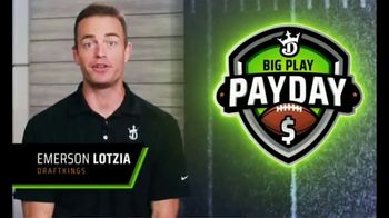 DraftKings Big Play Payday TV Spot, 'Ending NFL Week Five'