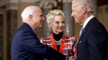 Biden for President TV Spot, 'Like John Did' Featuring Cindy McCain - 79 commercial airings