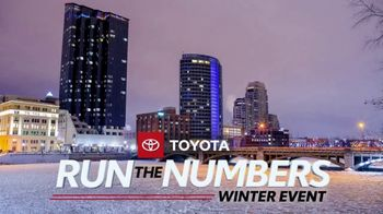Toyota Run the Numbers Winter Event TV Spot, 'Save: Corolla' [T2]