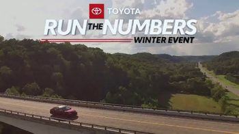 Toyota Run the Numbers Winter Event TV Spot, 'Save: Corolla' [T2] - Thumbnail 1