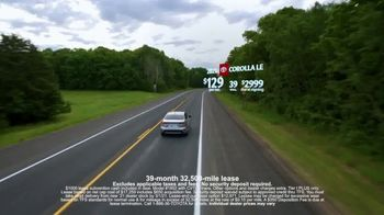 Toyota Run the Numbers Winter Event TV Spot, 'Save: Corolla' [T2] - Thumbnail 2