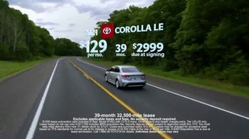 Toyota Run the Numbers Winter Event TV Spot, 'Save: Corolla' [T2] - Thumbnail 4