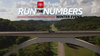 Toyota Run the Numbers Winter Event TV Spot, 'Save: RAV4' [T2]