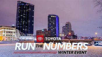 Toyota Run the Numbers Winter Event TV Spot, 'Save: RAV4' [T2] - Thumbnail 4