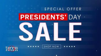 Tennis Express 72 Hour Presidents Day Sale TV Spot, '20% Off: Free Shipping'