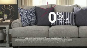 Ashley HomeStore Biggest Presidents Day Sale Ever TV Spot, 'No Interest and 30% Off' - Thumbnail 5