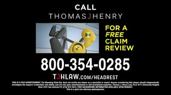 Thomas J. Henry Injury Attorneys TV Spot, 'Defective Headrest Injury Claims: Mercedes' - Thumbnail 7
