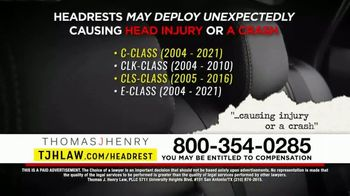 Thomas J. Henry Injury Attorneys TV Spot, 'Defective Headrest Injury Claims: Mercedes' - Thumbnail 5