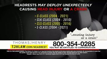 Thomas J. Henry Injury Attorneys TV Spot, 'Defective Headrest Injury Claims: Mercedes' - Thumbnail 6
