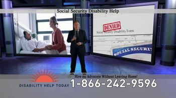 Disability Help Today TV Spot, 'Can't Work' - Thumbnail 1