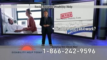 Disability Help Today TV Spot, 'Can't Work' - Thumbnail 2