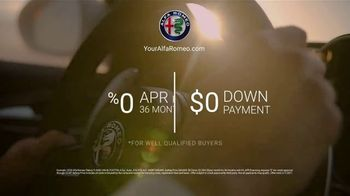 Alfa Romeo Presidents Day Event TV Spot, 'Zero Down' [T2] - Thumbnail 9