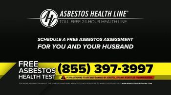 Asbestos Health Line TV Spot, 'Sara: Washing Her Husband's Clothes' - Thumbnail 10