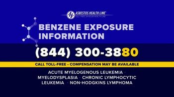 Asbestos Health Line TV Spot, 'Benzene Cancer Hazard' - Thumbnail 8