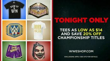 WWE Shop TV Spot, 'Endless Possibilities: Tees as Low as $14 and 20% Off Championship Titles' Song by Command Sisters - Thumbnail 8