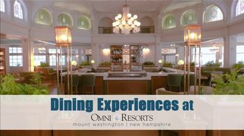 Omni Mount Washington Resort TV Spot, 'Dining Experiences' - Thumbnail 2
