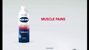 Blue-Emu Continuous Pain Relief Spray TV Spot, 'Muscle Pains to Strains' - Thumbnail 1