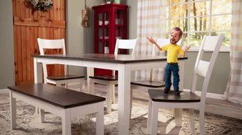 Bob's Discount Furniture TV Spot, 'Comedor Blake de siete piezas: $599 dólares' [Spanish] - Thumbnail 4